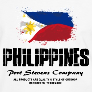 Philippines Flag Logo T-Shirts - Männer Kontrast-T-Shirt
