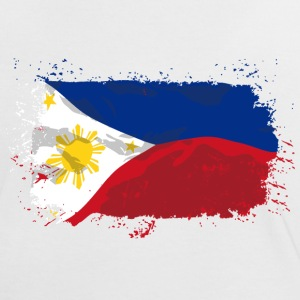 Philippines Flag  T-Shirts - Frauen Kontrast-T-Shirt