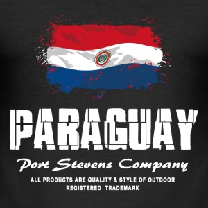 Paraguay Flag Logo T-Shirts - Männer Slim Fit T-Shirt