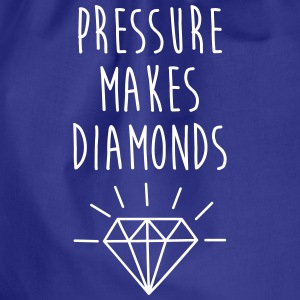 Pressure Makes Diamonds Quote Bags & Backpacks - Drawstring Bag