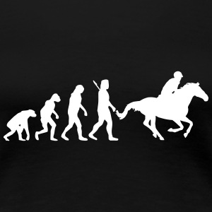 Evolution Reiten T-Shirts - Frauen Premium T-Shirt