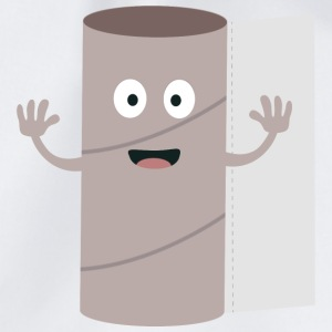 Empty toilet paper roll with a face Bags & Backpacks - Drawstring Bag