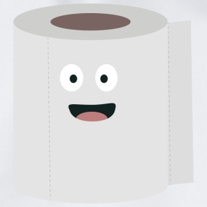 Toilet paper with face Bags & Backpacks - Drawstring Bag