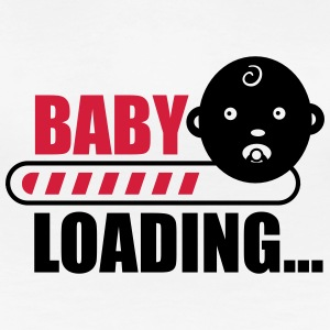 baby loading - funny pregnancy T-shirts - Dame premium T-shirt