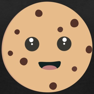 chocolate Chip Cookie kawaii T-shirts - T-shirt med v-ringning dam