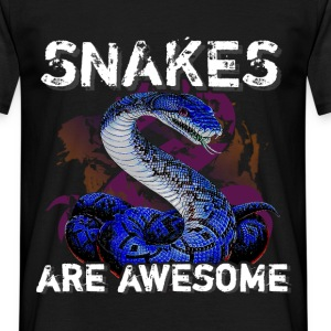 Snakes are aswesome - Men's T-Shirt