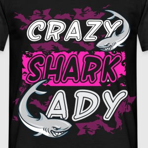 Crazy Shark Lady  - Men's T-Shirt