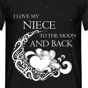 I love my niece to the moon and back - Men's T-Shirt