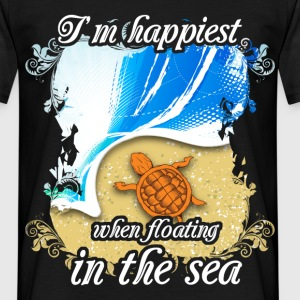 I'm happiest when floating in the sea - Men's T-Shirt