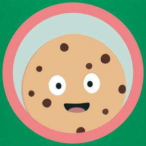Chocolate cookie met rode cirkel Shirts - Kinderen Premium T-shirt