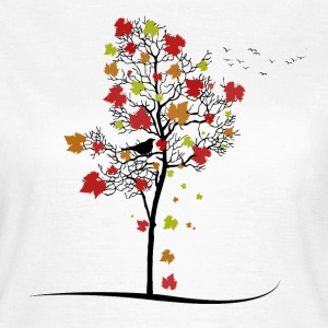 Autumn Birds T-Shirts - Frauen T-Shirt