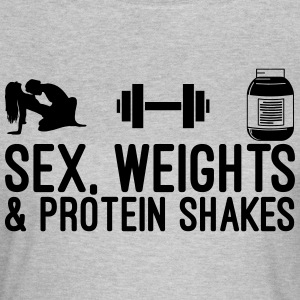 Sex, Weights and Protein Shakes T-Shirts - Women's T-Shirt