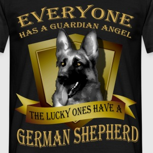 Everyone has a guardian angel, the lucky ones have - Men's T-Shirt