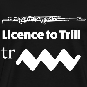 Licence to trill Flute T-shirts - Herre premium T-shirt