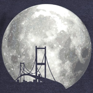 full moon with bridge Pullover & Hoodies - Frauen Pullover mit U-Boot-Ausschnitt von Bella