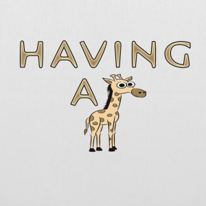 Having a Giraffe / Having a Laugh Bags & Backpacks - Tote Bag