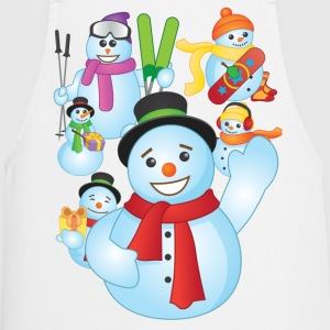 Snowman Scene Christmas - Cooking Apron