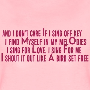 SIA Lyrics: Bird Set Free - Women's Premium T-Shirt