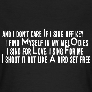 SIA Lyrics: Bird Set Free T-skjorter - T-skjorte for kvinner
