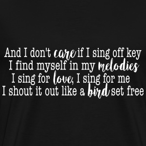 SIA Lyrics: Bird Set Free T-skjorter - Premium T-skjorte for menn