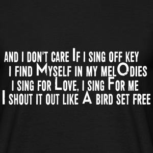 SIA Lyrics: Bird Set Free T-Shirts - Männer T-Shirt