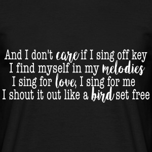 SIA Lyrics: Bird Set Free Tee shirts - T-shirt Homme