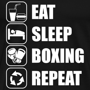 Eat,sleep,boxing,repeat Boxhandschuhe Boxer Boxen - Männer Premium T-Shirt