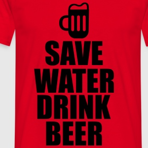 Alkohol Funshirt - Save Water drink Beer - Männer T-Shirt