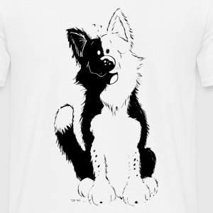 Cute Border Collie Tee shirts - T-shirt Homme