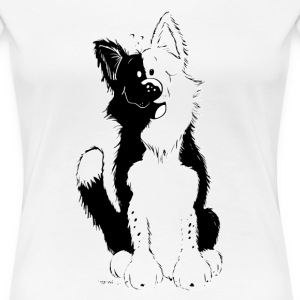 Söt Border Collie T-shirts - Premium-T-shirt dam