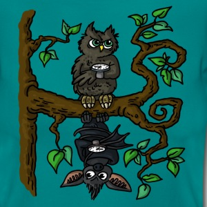 Owl and Bat - Frauen T-Shirt