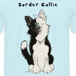 Söt Border Collie T-shirts - T-shirt herr