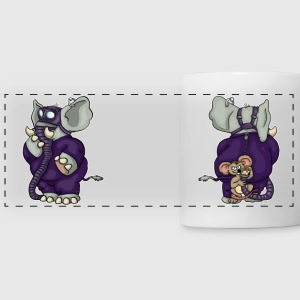 Kinky Elephant and Mouse Mug - Panoramatasse