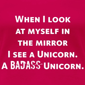 badass unicorn T-Shirts - Frauen Premium T-Shirt