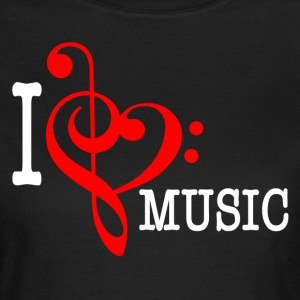 I love Music T-Shirts - Frauen T-Shirt