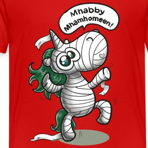 Einhorn Mumie Halloween T-Shirts - Teenager Premium T-Shirt