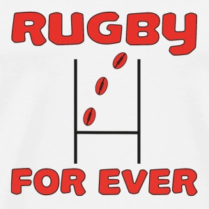 Rugby for ever T-shirts - Herre premium T-shirt