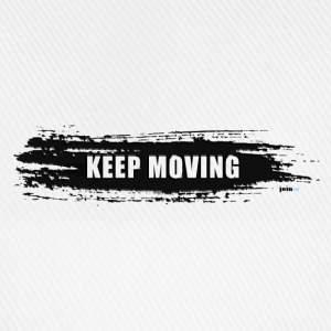 Keep moving Pinselstrich - Baseballkappe