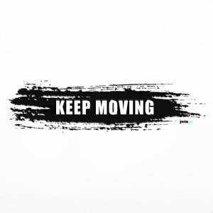 Keep moving Pinselstrich - Untersetzer (4er-Set)