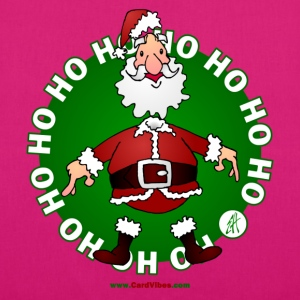 Santa  Claus Ho Ho Ho - EarthPositive Tote Bag