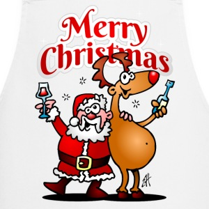 Merry Christmas - Santa Claus and his Reindeer - Cooking Apron