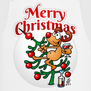Reindeer in a Christmas tree - Merry Christmas - Cooking Apron