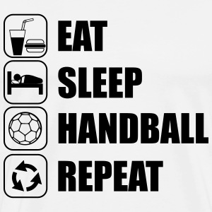 Eat,sleep,handball,repeat - Männer Premium T-Shirt