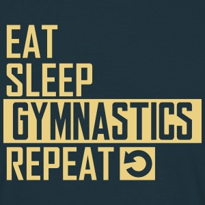 eat sleep gymnastics T-Shirts - Männer T-Shirt