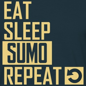 eat sleep sumo T-Shirts - Männer T-Shirt