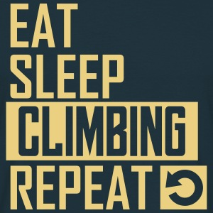 eat sleep climbing T-Shirts - Männer T-Shirt
