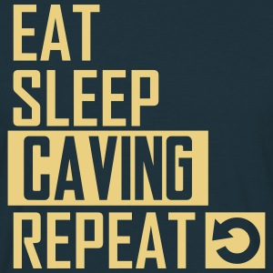 eat sleep caving T-Shirts - Männer T-Shirt