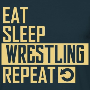 eat sleep wrestling T-Shirts - Männer T-Shirt