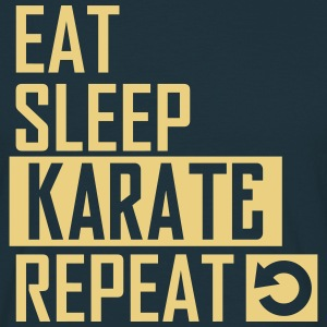 eat sleep karate T-Shirts - Männer T-Shirt