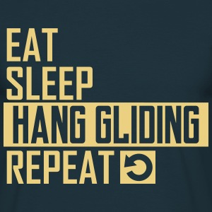 eat sleep hang gliding T-Shirts - Männer T-Shirt